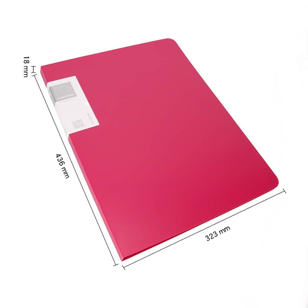 Folder Informationsbroschüre PP-Material PP-Material PP-Material Einfaches und stilvolles Blau Grün Orange Rosa Gelb (Farbe   E) B07Q9PHP4R   Elegantes Aussehen  e3a1ee