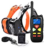 Cheap Wolfwill Dog Training Collar 1500ft Waterproof and Rechargeable Remote Shock Collar with Beep/ 100 Level Vibration/Shock Fits Puppies (10-110lbs)