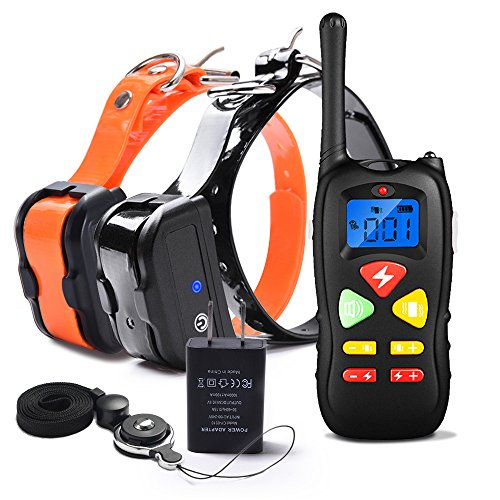 WOLFWILL Dog Training Collar with Remote, 1500ft Waterproof Rechargeable Shock Collar with Beep/Vibration/Shock Fits Small, Medium and Large Dogs