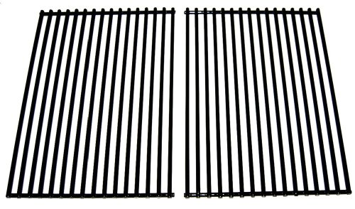 Music City Metals 56202 Porcelain Steel Wire Cooking Grid Replacement for Select BBQ Grillware and Steelman Gas Grill Models, Set of 2