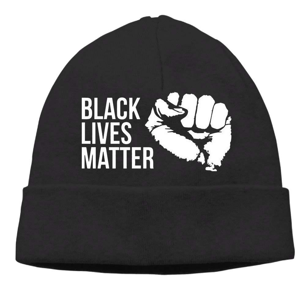 SDLZIJFGHBC Momen Black Lives Matter Elastic Street Dance Black Beanies Tough Headwear