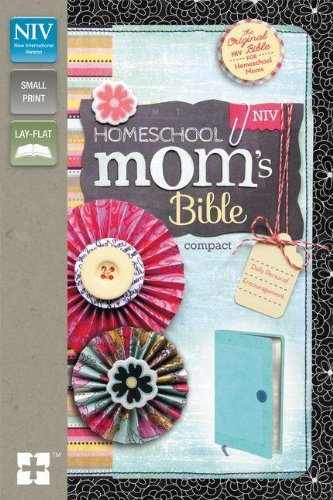 NIV, Homeschool Mom's Bible, Compact, Leathersoft, Teal: Daily Personal Encouragement