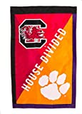 South Carolina vs Clemson House Flag