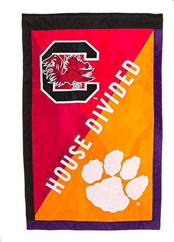 South Carolina vs Clemson House Flag