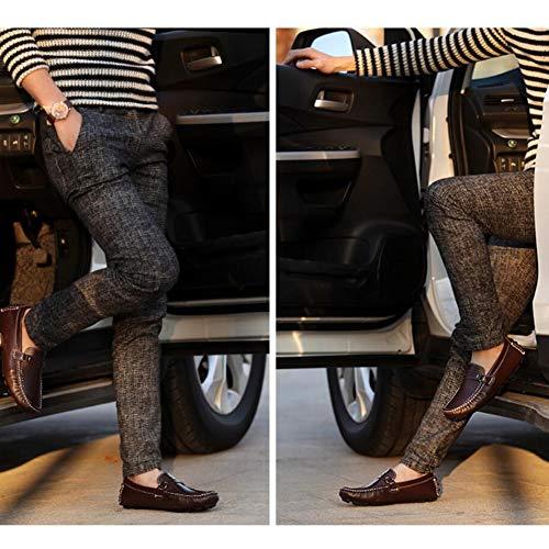 Confort Marrón y de YaXuan Hombre Zapatos Mocasines Primavera on Transpirables Zapatos y de de de de Slip Planos Zapatos Perezosos Zapatos de Zapatos conducción Cuero Barco Oz4Oq7w