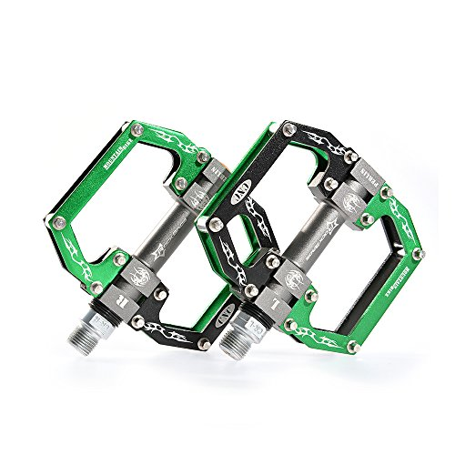 RockBros Aluminum Alloy Cycling Bike Platform Pedals Sealed Bearing Axle 9/16
