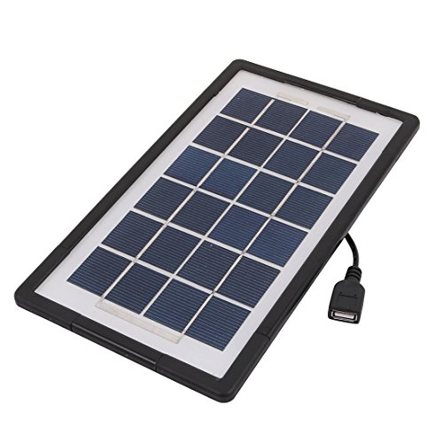 uxcell Tempered Glass Solar Charging Battery Panel Aluminum Alloy Frame 3W 6V with USB - 9.95 Glasses