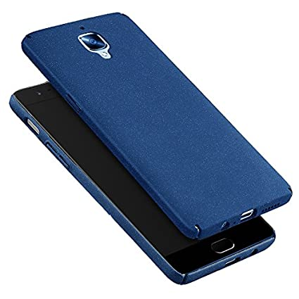 san francisco 1cc15 6d01b KAPA Sand Finish [Full Coverage] All Sides Protection Slim Back Case Cover  for Oneplus 3T / 3 (Three) - Slate Blue