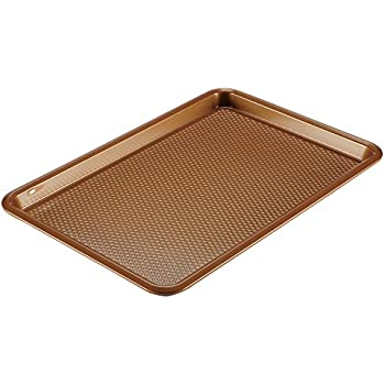 Ayesha Curry 46999 Nonstick Bakeware, Nonstick Cookie Sheet / Baking Sheet - 11 Inch x 17 Inch, Copper Brown
