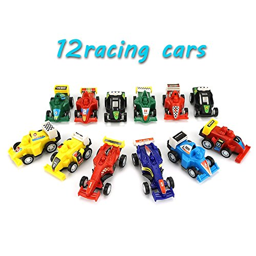 DIMY Toys for 4-5 Year Old Boys, Pull Back Vehicles 12 Cars Gifts for 3-6 Year Old Boys Toys for Toddlers DMUSPULL12RACE