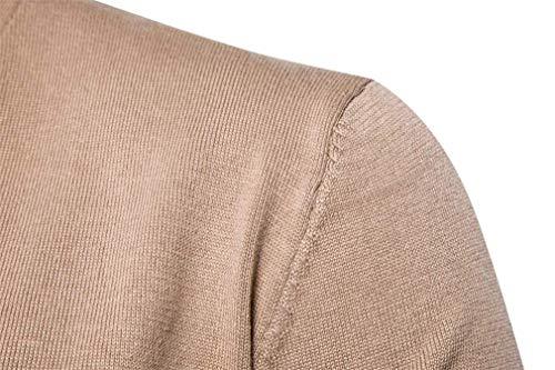 Cardigans V Kaki Manteau Couleur Moderne Unie À Manches En Printemps Tricot Haidean Pull Col Élégant Outwear Décontracté Longues Erren Veste Automne 4nC5TWWOq
