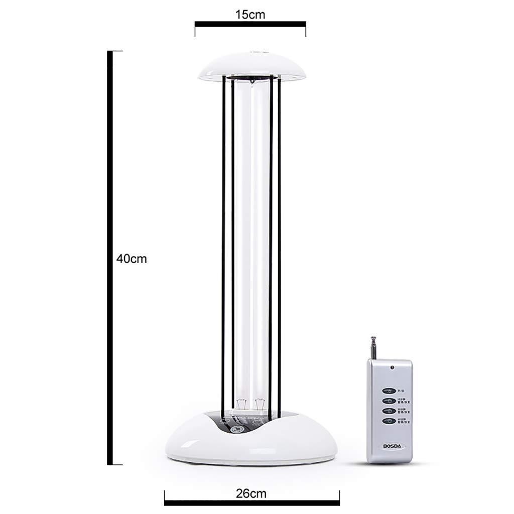 KQJJD 38W UV消毒灯リモコンタイミングホームホテル便利モバイル滅菌空気浄化ランプ/ 10秒遅延スタート B07GYWQ5S4