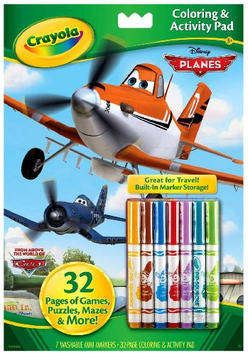 - Crayola Disney Pixar Coloring and Activity Book with Markers (Styles Vary) Planes/Cars