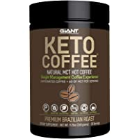 Giant Sports Keto Coffee Gourmet and Complete, Low Carb Instant Coffee Drink - Premium Brazilian Roast Flavour, 9.2Oz.