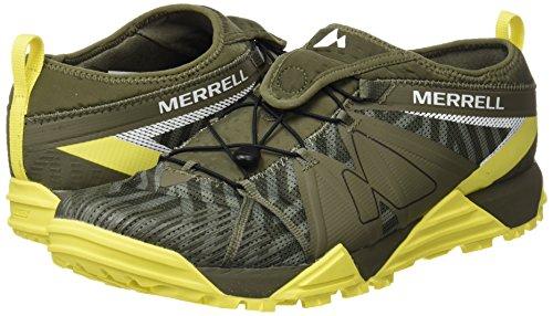 Pour Avalaunch Hommes Chaussures Trail Vert Poussireux Merrell Course De Pied tennis awZY1n