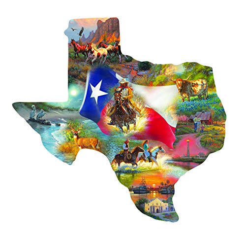 Sunsout 2019 Images of Texas by Artist Mark Keathley 1000 Piece Collage Shaped - Lighthouse Texas