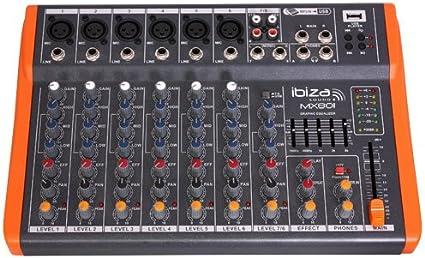 Ibiza MX801 - Mesa de mezclas de 8 canales: Amazon.es ...