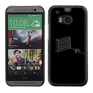 KLONGSHOP // Cubierta de piel con cierre a presión Shell trasero duro de goma Protección Caso - Oficina minimalista - HTC One M8 //