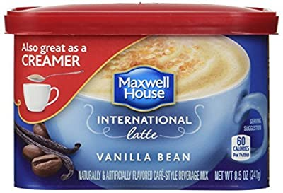 Maxwell House International Coffee Vanilla Bean Latte, 8.5 oz (Pack of 4) by Maxwell House