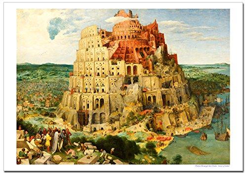 世界の名画 ピーテルブリューゲル バベルの塔 ジークレー技法 高級ポスター (B1/728ミリ×1030ミリ) B01M73K09LB1/728ミリ×1030ミリ