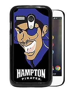 NCAA Hampton Pirates 5 Black Motorola Moto G Protective Phone Cover Case