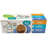 Muse by Purina Grain-Free Pate Adult Wet Cat Food Variety Pack - (4 Packs of 6) 3 oz. Cans