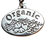 Organic - Pewter Pendant - Organic Food, Natural Produce, Balance and Health, Garden