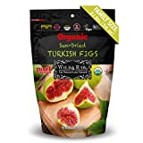ORGANIC TURKISH FIGS - BULK SIZE - 2.1lbs (34oz) - Kosher Non-GMO Sun Dried