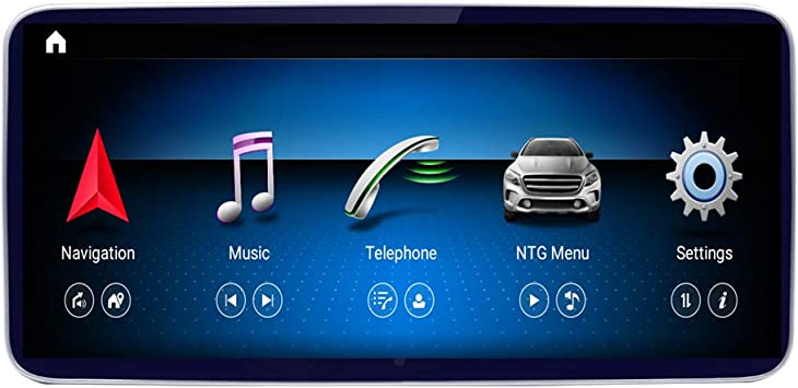 10.25 Car Navigation Touch Screen for Mercedes Benz C CLK Class W204 S204 C207 A209 2008 to 2010 4-core 2GB RAM 32GB ROM 1280 x 480 Resolution