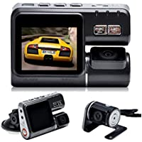 Dash Cam, NOVPEAK Auto Vehicle Dashboard Car Camcorder DVR Video Recorder with Rear View Camera 170 Wide Angle, Night Vision, G-Sensor, Loop Recording and Motion Detection (Black)