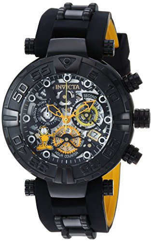 Men's 'Garfield' Quartz Stainless Steel and Silicone Casual Watch, Color:Black (Model: ) - Invicta 24880