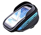 Allnice U Type Design 5.5'' Waterproof Toucscreen Dual Zipper 2.5L Capacity Mountain Bike Road Bicycle Cycling Front Frame Bag Tube Pannier Saddle Bag Fit for iPhone 6 Plus / iPhone 6 / Galaxy Note2 / Galaxy S5 and etc (Blue)