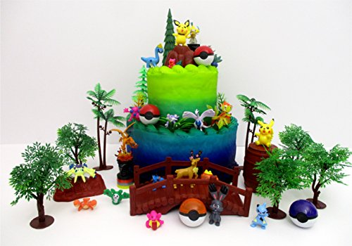 POKEMON Deluxe Birthday Cake Topper Set Featuring RANDOM Pok