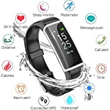 LIGE Fitness Tracker, Activity Tracker Smart Watch with Heart Rate Monitor, Sleep Monitor, Step Counter Fitness Watch Smart Bracelet IP68 Waterproof Pedometer, Compatible with iPhone & Android