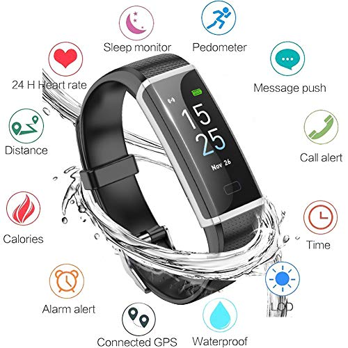 LIGE Fitness Tracker, Activity Tracker Smart Watch with Heart Rate Monitor, Sleep Monitor, Step Counter Fitness Watch Smart Bracelet IP67 Waterproof Pedometer, Compatible with iPhone & Android (Best Fitness Bracelet For Iphone)
