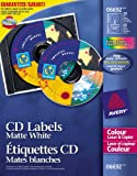 Avery CD Labels for Colour Laser Printers, Matte White, Round, 30 Labels, Permanent (6692) Made in Canada for The Canadian Market