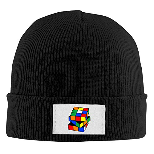 Unisex Elastic Knitted Beanie Cap Magic Cube Toy Pattern Winter Outdoor Warm Skull Hats ()