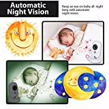 Video Baby Monitor, Wireless Baby Monitor with Digital Camera, Night Vision Temperature Monitoring & 2 Way Talkback System, Built-in Remote Lullabies,3.4Inch Large Screen