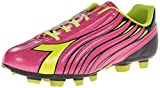 Diadora Women's Solano Soccer Cleat Shoes, Magenta/Yellow, 6 M US