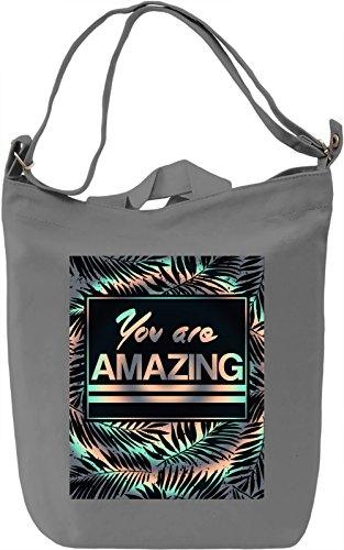 You are Amazing Borsa Giornaliera Canvas Canvas Day Bag| 100% Premium Cotton Canvas| DTG Printing|