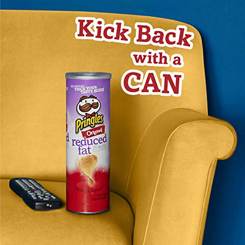 Pringles Potato Crisps Chips, Reduced Fat, Original Flavored, 4.9 oz Can by Pringles (Image #5)