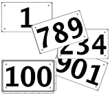 Kyпить Race Numbers 201-300 competitor tryout tyvek bib numbers, set of 100, (any 100 from 1-1,000) 4