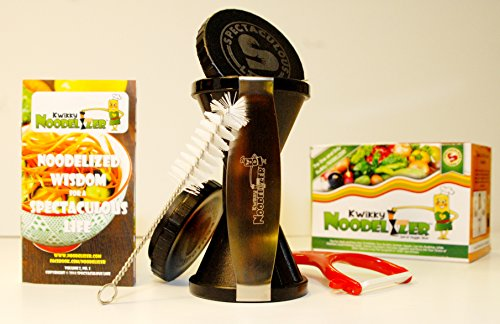 Spiral Vegetable Slicer - The One & Only NOODELIZER(tm) - Best Deal Spiral Veggy Cutter, Veggie Pasta Premium Nutrition Kit - Spaghetti Noodle Zucchini Pasta Maker - Compare to Veggetti, Brieftons, NativeSpring, SpiraLife, iPerfect Kitchen Spiral Envy (Chopper Veggy)