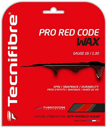 (Tecnifibre Pro Red Code Wax (16-1.30mm) Tennis String Set (Red) )