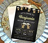 Bachelor party invitation set of 10