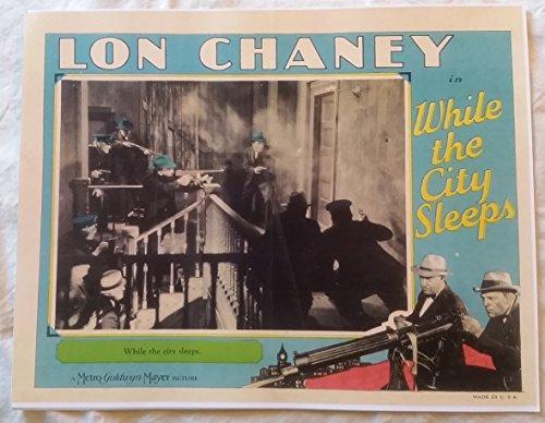 While the City Sleeps Lobby Card 14 x 11 inches Lon Chaney