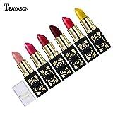 Hunputa Lipstick,Women Professional 12 Colors Shimmer Lipstick Pigment Metallic Lip Gloss Long Lasting Gloss Cream (12PCS)