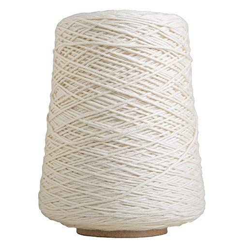 Knit Picks Dishie Cone Worsted Cotton Yarn - 14 oz (Swan) (Yarn White Cotton Cone)