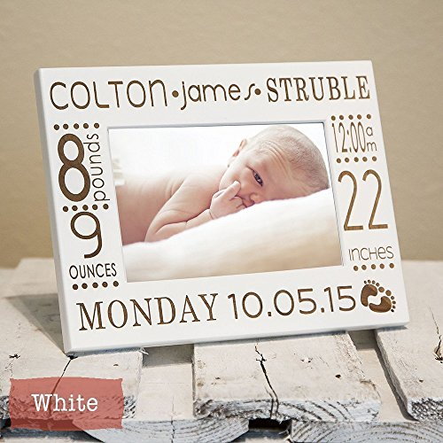 Birth Announcement Frame Personalized Engraved With Baby Name, Stats, Birth Information, Color of your choice, Best Baby Gift