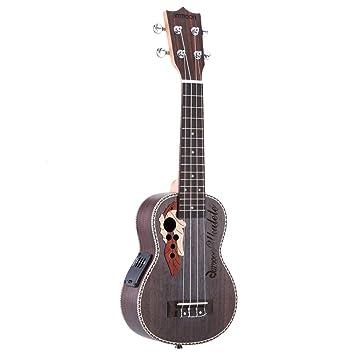 ammoon Spruce Ukelele acústico de 21 pulgadas de 15 trastes 4 cuerdas instrumento musical con encordado con pastilla EQ integrada: Amazon.es: Instrumentos ...